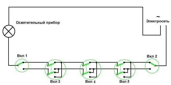 Как сделать проходной выключатель