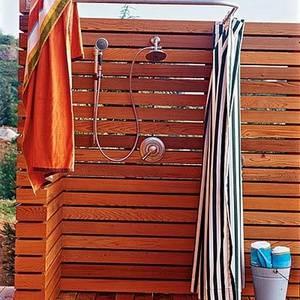 Теплый душ на даче