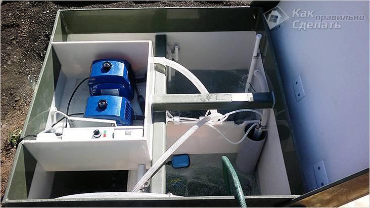 Сверху установлены два компрессора