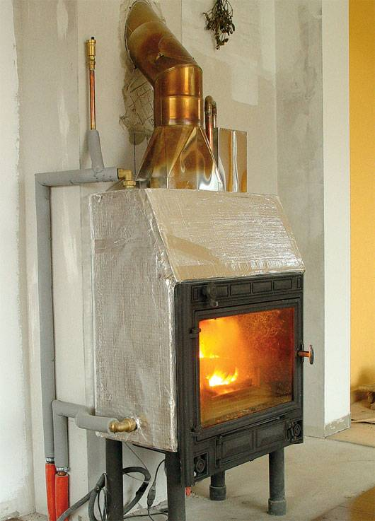 Отопление для дачи на дровах с батареями