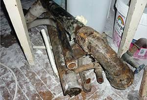 Замена канализации стояка