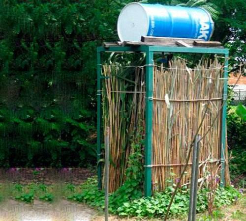 Бак душ для дачи с подогревом