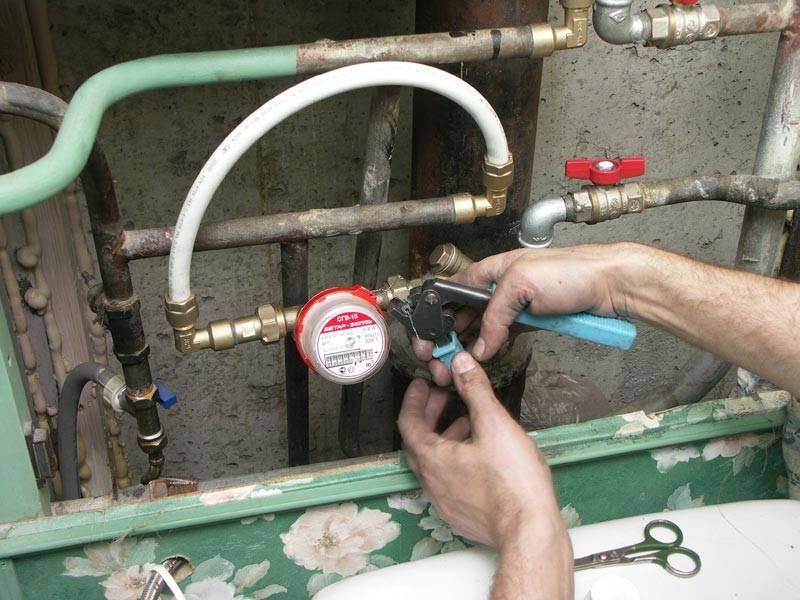 Схема установки водосчетчика в квартире