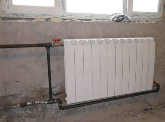Подключение биметаллических радиаторов