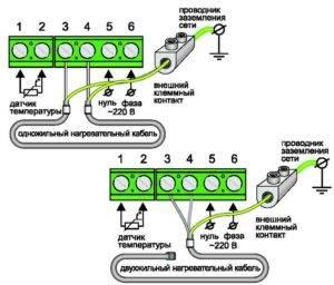 Схема подключения регулятора теплого пола