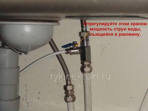 Последовательность установки картриджей очистки воды