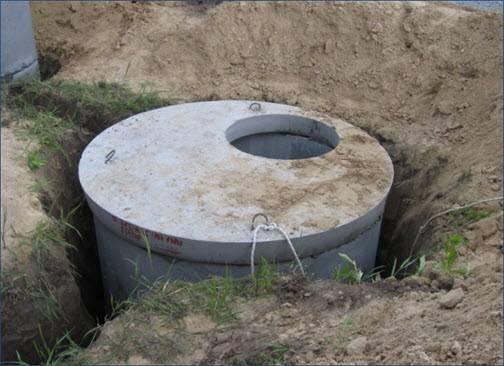 Смотровые колодцы на водопроводе