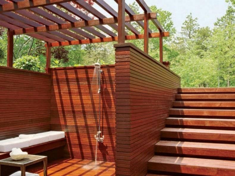 Как построить душевую на даче