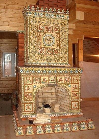 Какой плиткой можно обложить печь в доме
