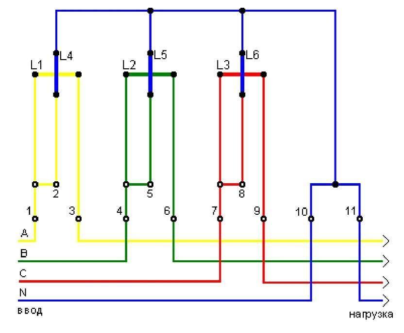 Принцип работы узо в трехфазной сети