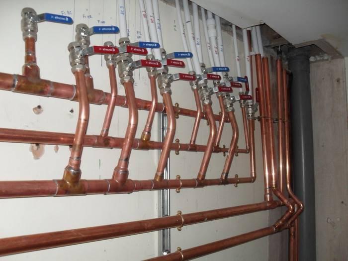 Медные водопроводные трубы