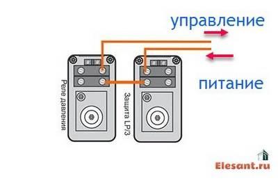 Схема подключения скважинного насоса с реле давления