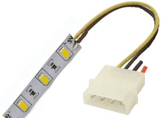 Как подсоединить светодиодную ленту