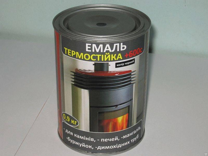 Краска для камина термостойкая