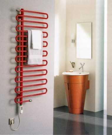 Водяные сушилки для ванной комнаты настенные