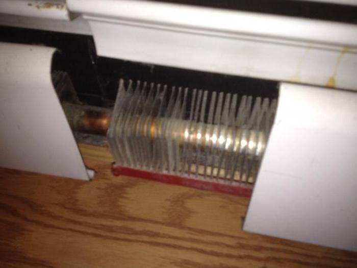Плинтусная система отопления