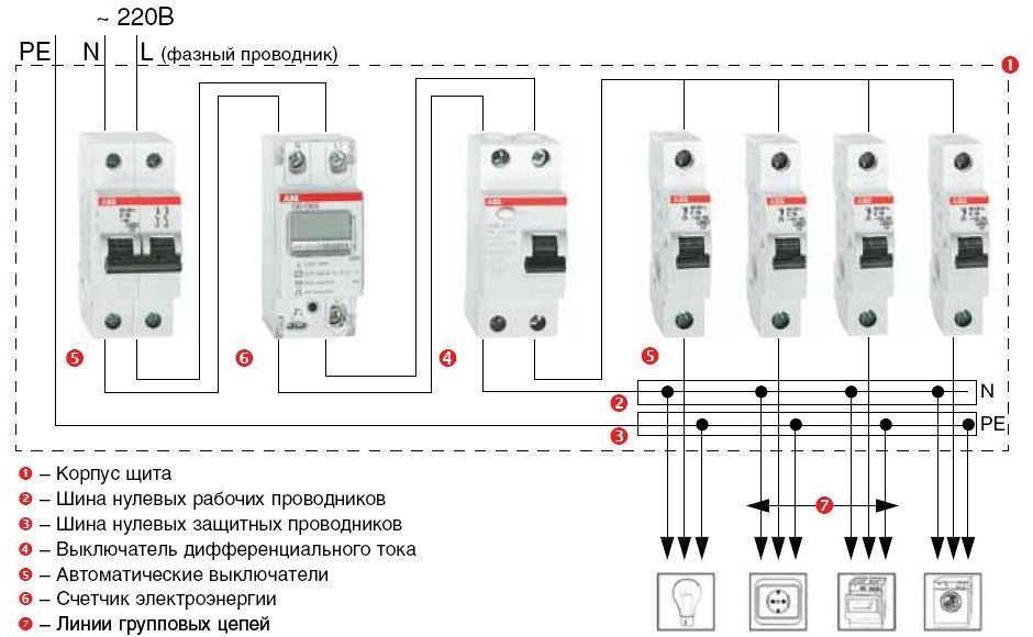 Как к счетчику подключить автомат