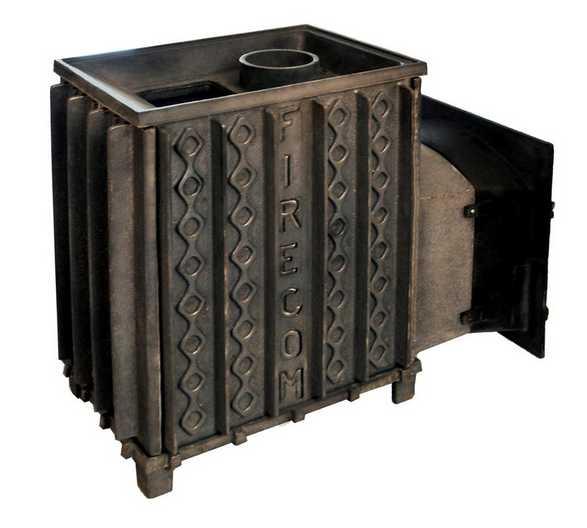 Чугунная или стальная печь для бани