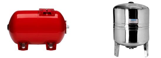 Гидроаккумулятор вертикальный или горизонтальный