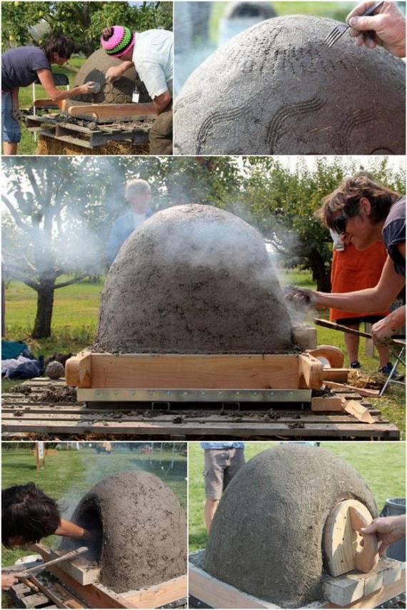 Глинобитная печь