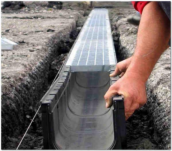 Лотки бетонные для ливневой канализации