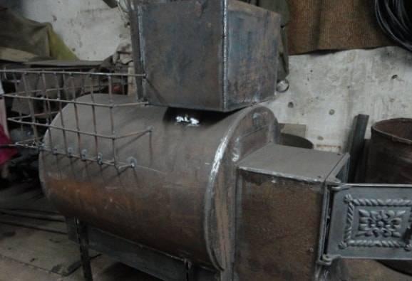 Печь для бани из трубы 530 чертежи