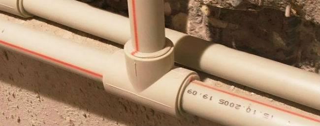 Труба для ввода воды в дом