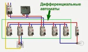 Подключение узо и дифавтоматов схемы