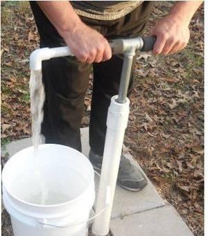 Ручной водяной насос механический поршневой