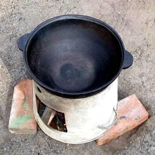 Мангал и печь под казан