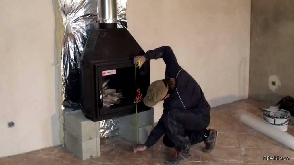 Чугунная печь камин