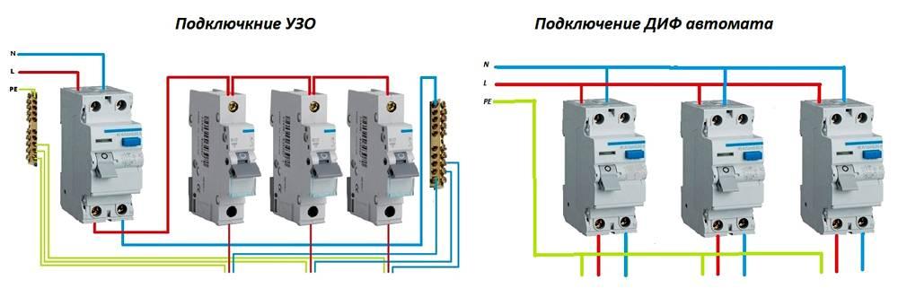 Отличие дифференциального автомата от узо