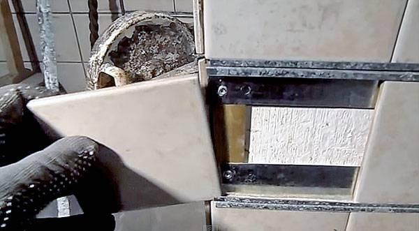 Облицовка печи керамогранитом