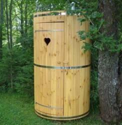 Чертеж садового туалета с размерами