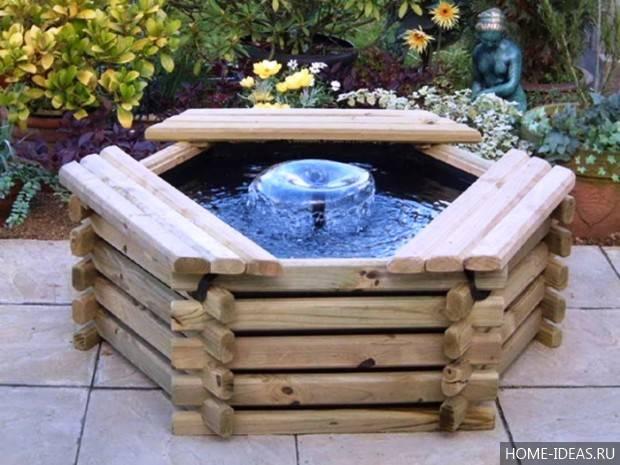 Мини фонтаны для сада своими руками