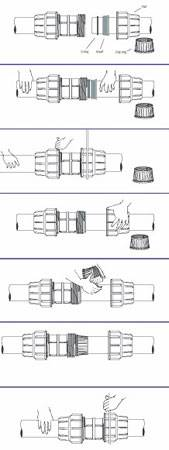 Компрессионные муфты для полиэтиленовых труб