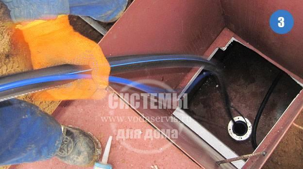 монтаж нового насоса в скважину