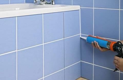 Как наносить герметик в ванной