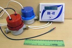 Счётчик горячей воды с датчиком температуры