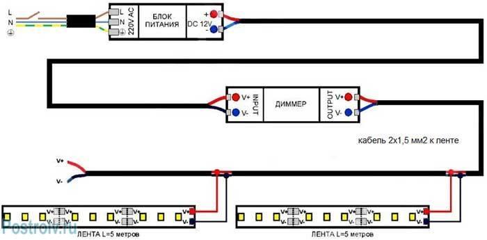 Светодиодная лента 12 вольт как подключить