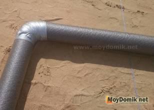 Утеплитель для канализационных труб в земле