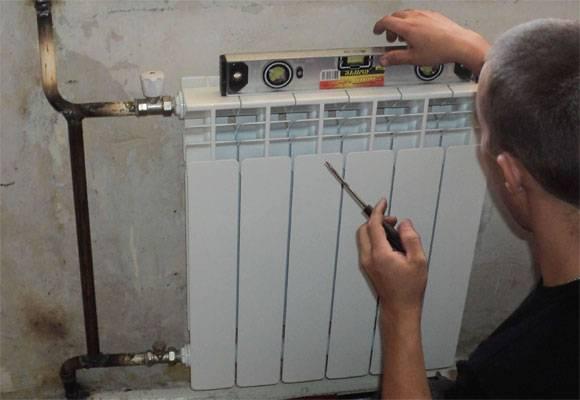 Установка биметаллического радиатора своими руками