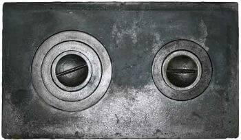 Чугунная плита для печи: размеры и виды