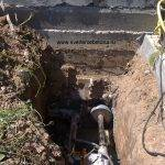 Отверстие в фундаменте под канализацию