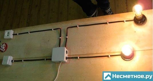 Соединение электропроводов в распределительной коробке