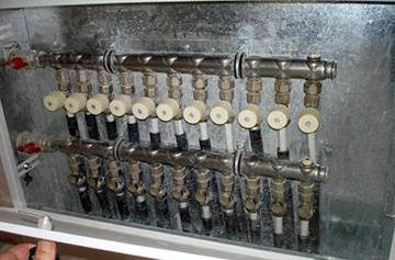 Лучевая разводка отопления