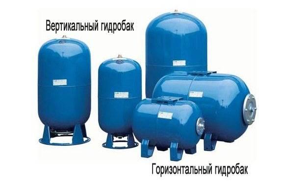 Гидроаккумулятор вертикальный игоризонтальный