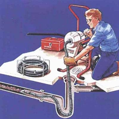 Машина для прочистки канализации