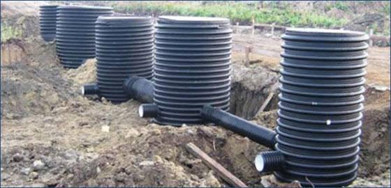 Пластиковый колодец для водопровода