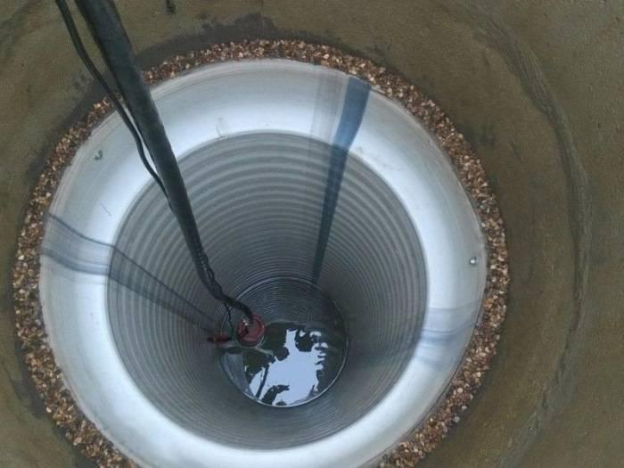 Углубление колодца пластиковой трубой